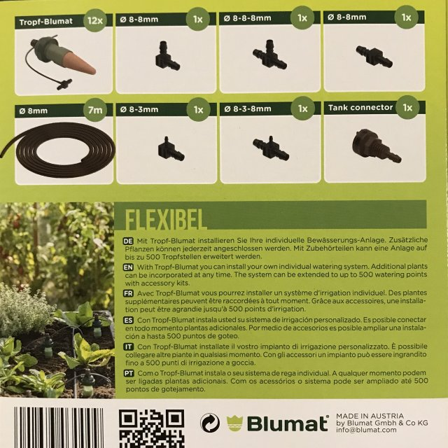Deck and Planter Box kit- 12 Tropf-Blumat regular for gravity fed water system
